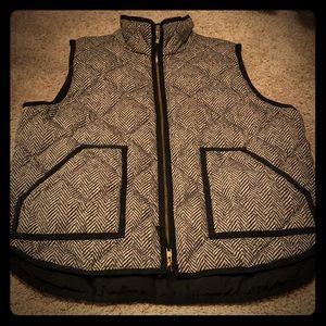 J. Crew Herringbone Vest - Size XL